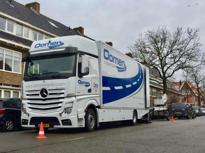 Verhuiswagen in Haarlem