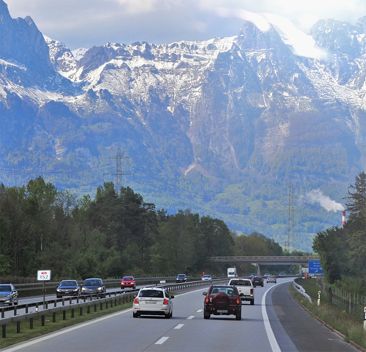 Auto meenemen naar Zwitserland