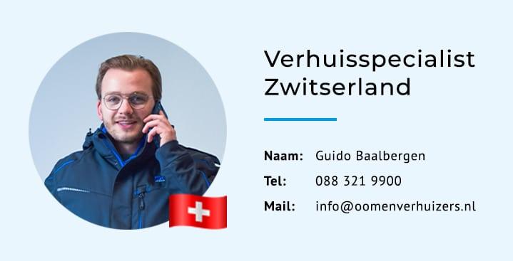 Verhuisspecialist Zwitserland