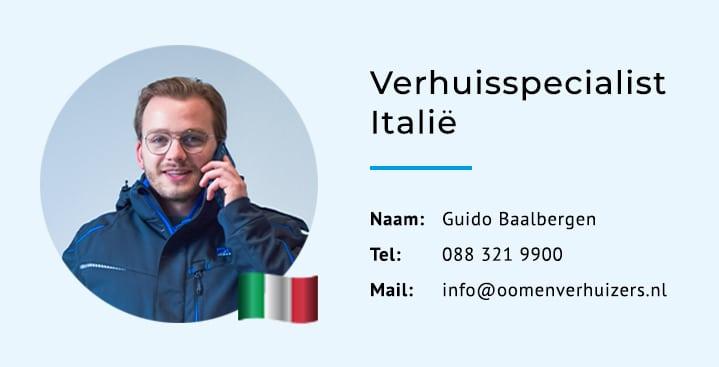 Verhuisspecialist Italië